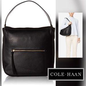 🆕COLE HAAN Jade Leather Hobo Bag (BLACK)